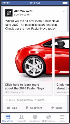 facebook ads - ลดต้นทุนกับ carousel ads - 1