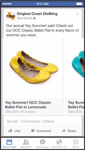 facebook ads - ลดต้นทุนกับ carousel ads - 3